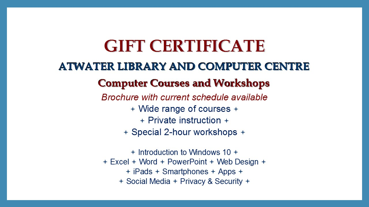 Gift Certificate Ad