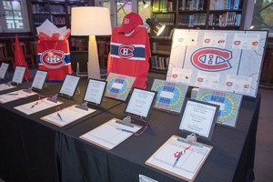 Silent auction Hockey Table in the Reading Room