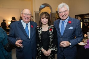 Guest of Honour David Angus, Emcee Mutsumi Takahashi and Westmount Mayor Peter Trent
