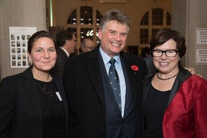 Jodi Lafreniere, Scott Pritchard and Library Executive Director Lynn Verge