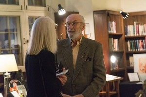 Silent auction donor extraordinaire Reuben Abramowsky in conversation