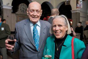 Former Library board member James Brodeur and his wife Barbara.