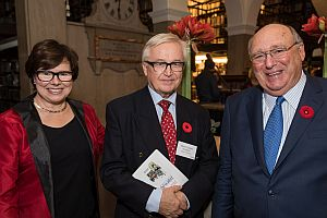 Executive Director Lynn Verge, President Martin Cundall and Guest of Honour David Angus